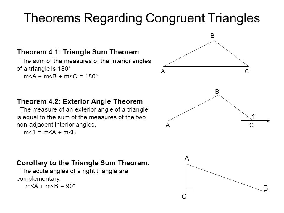 Chapter 4 congruent traingles ppt download - Sum of the exterior angles of a triangle ...