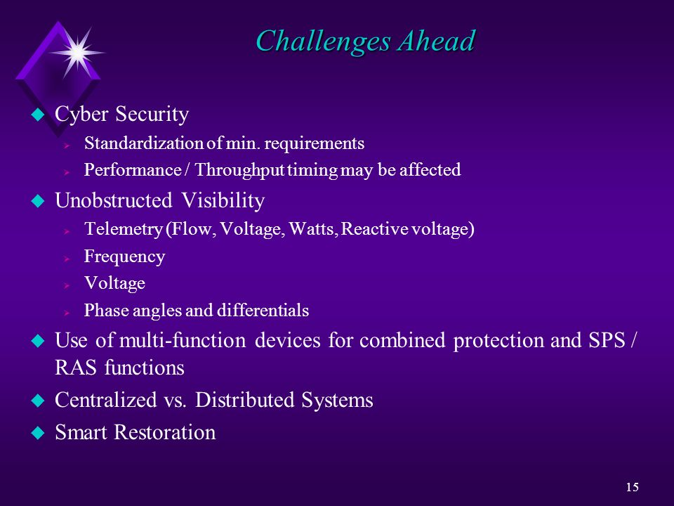 Challenges Ahead Cyber Security Unobstructed Visibility