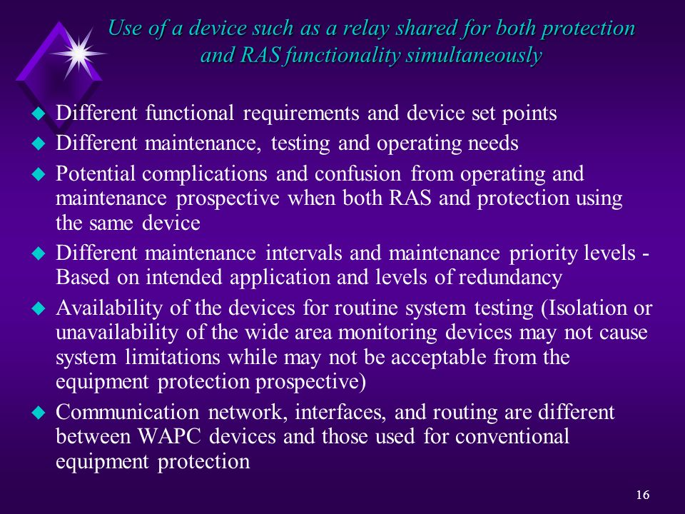 Use of a device such as a relay shared for both protection and RAS functionality simultaneously