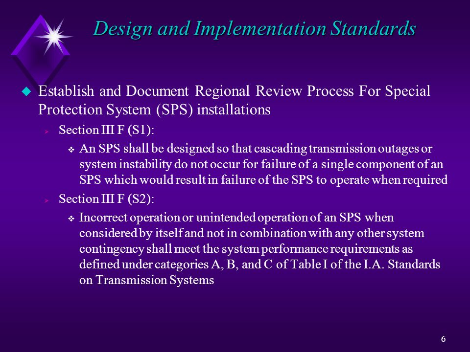Design and Implementation Standards