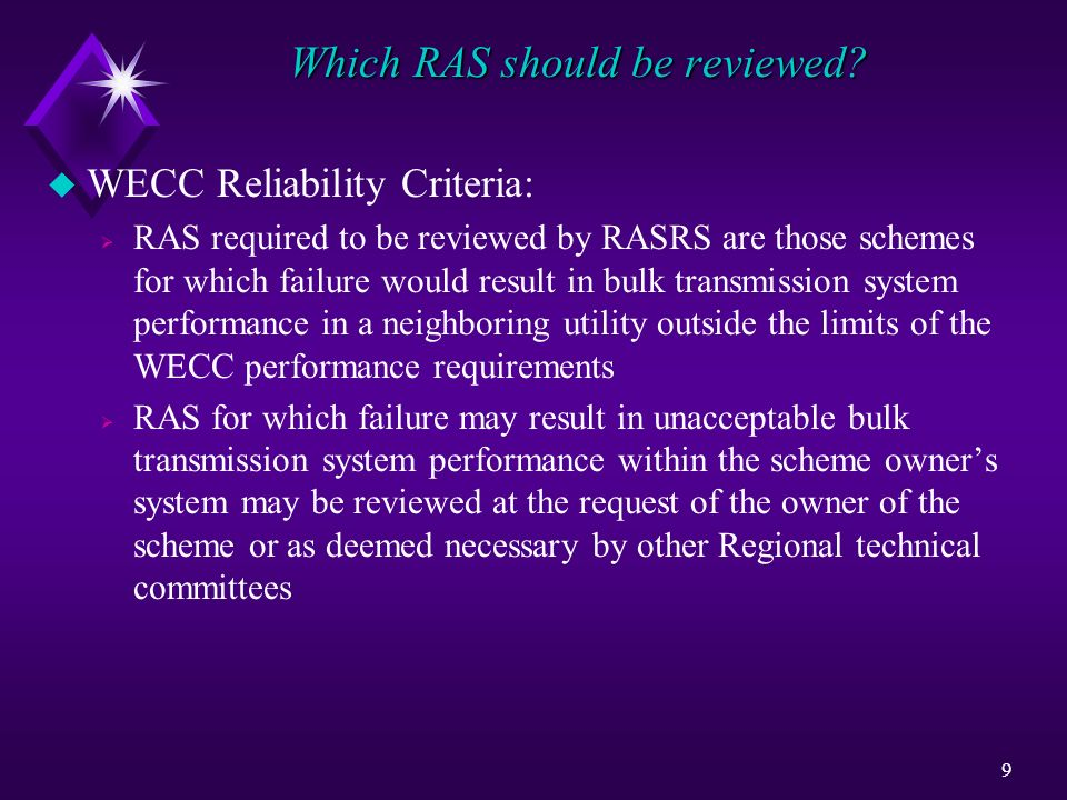 Which RAS should be reviewed