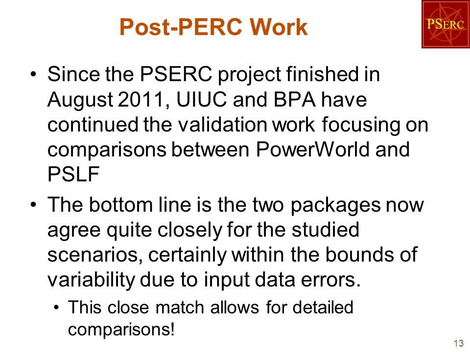 Post-PERC Work