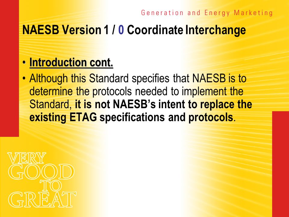 NAESB Version 1 / 0 Coordinate Interchange