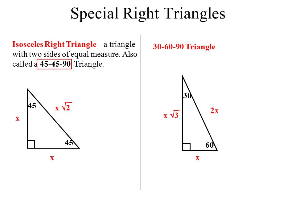how to get sides of a right triangle