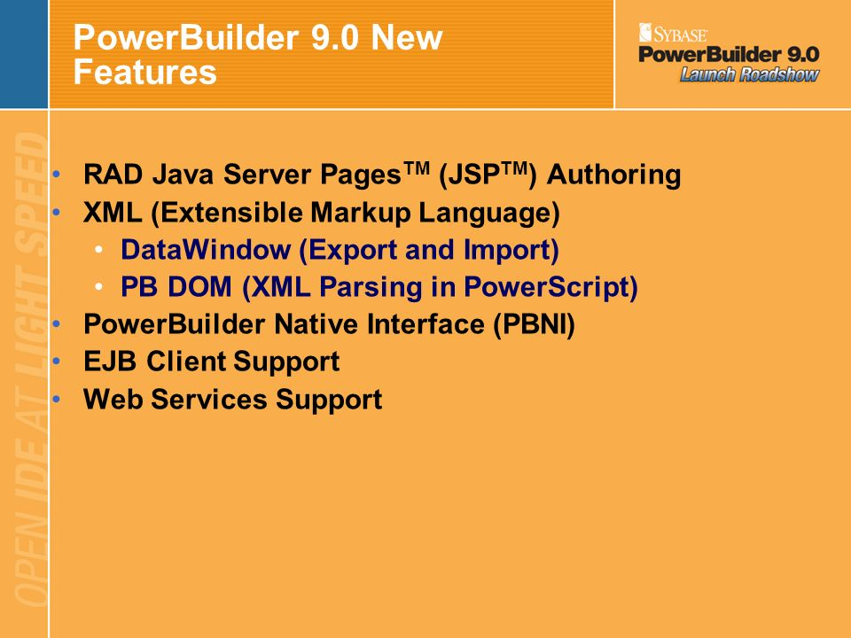 PowerBuilder 9.0 New Features