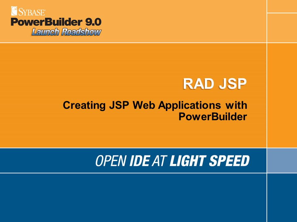 Creating JSP Web Applications with PowerBuilder