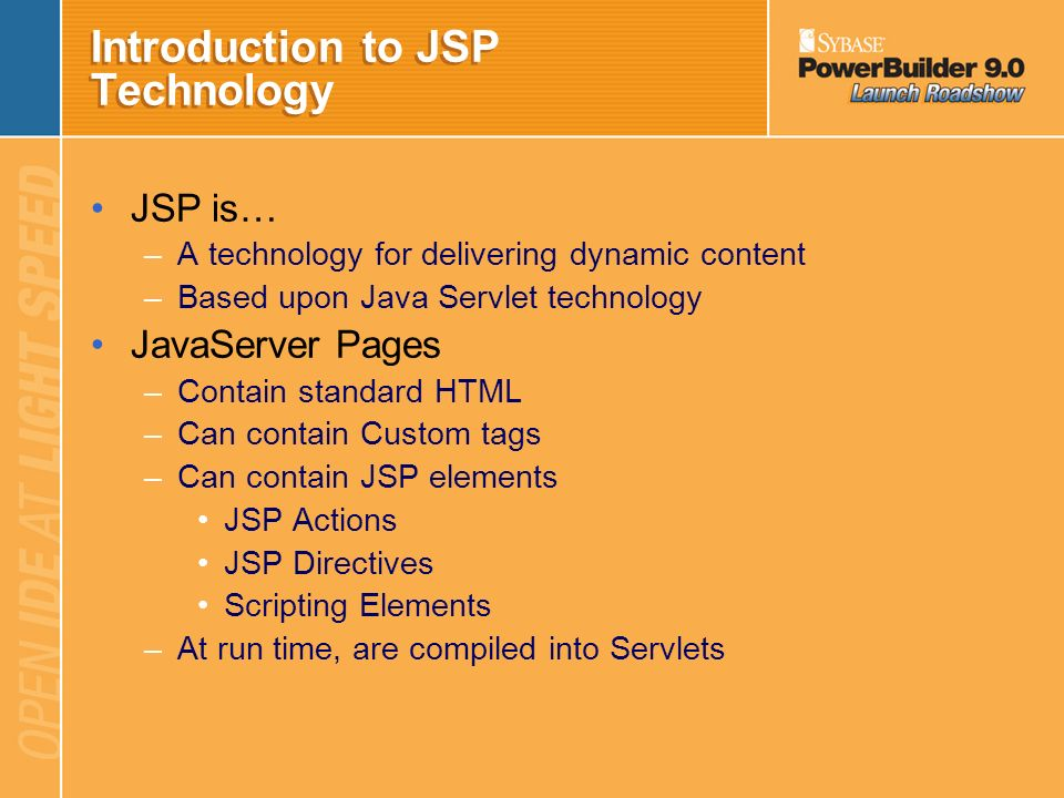 Introduction to JSP Technology