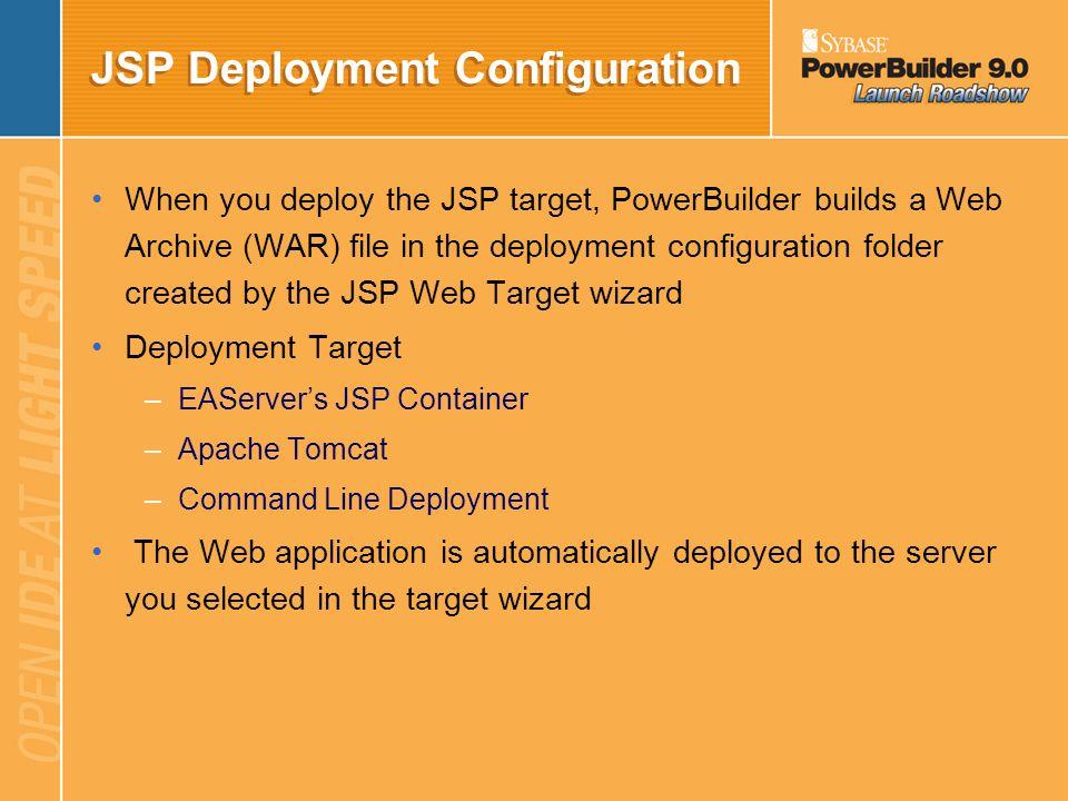 JSP Deployment Configuration