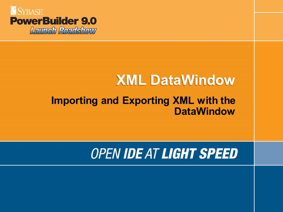 Importing and Exporting XML with the DataWindow