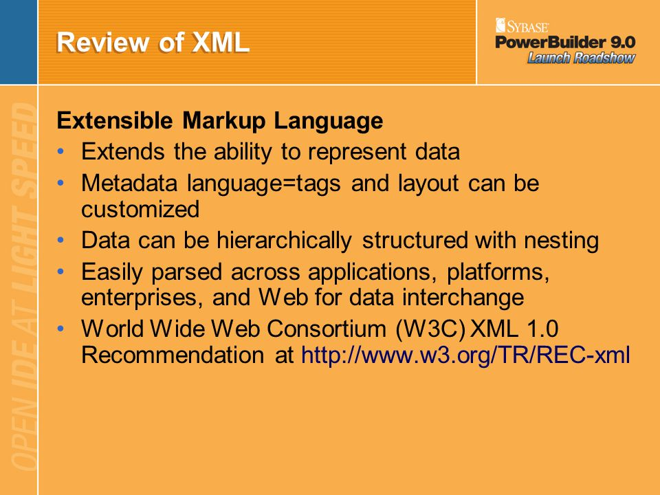 Review of XML Extensible Markup Language