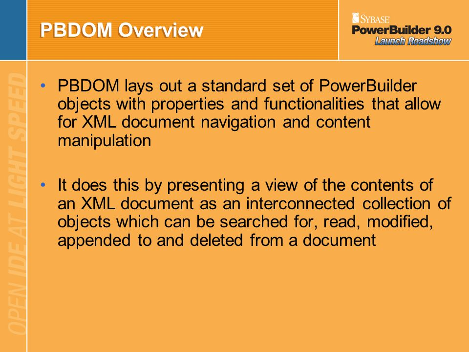 PBDOM Overview