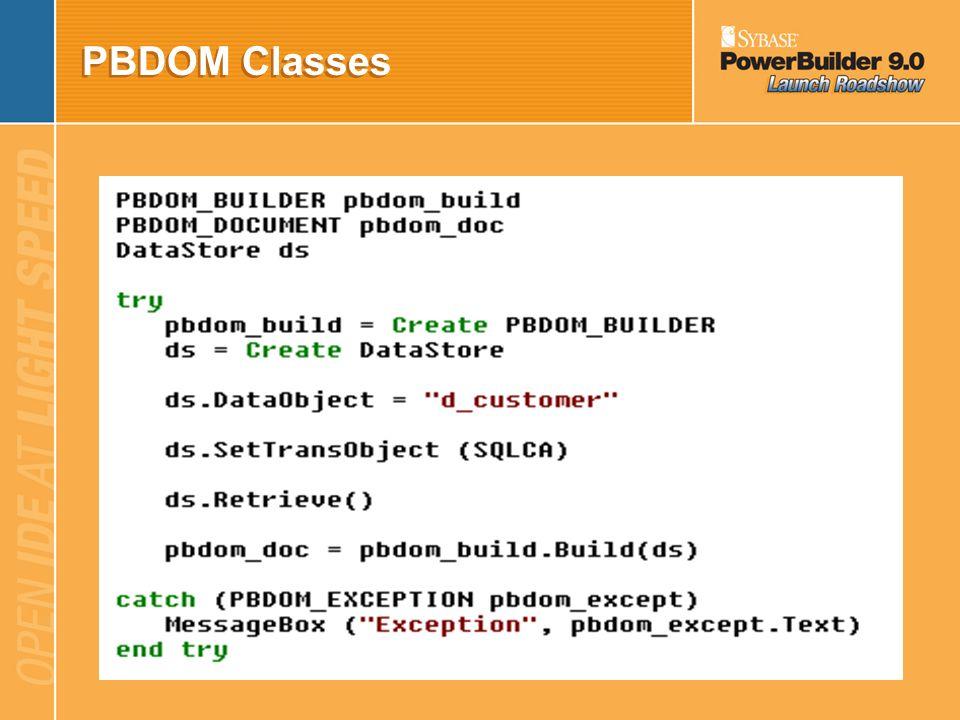 PBDOM Classes