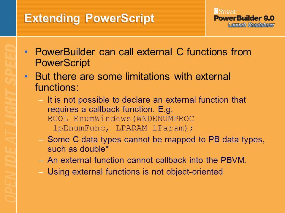 Extending PowerScript
