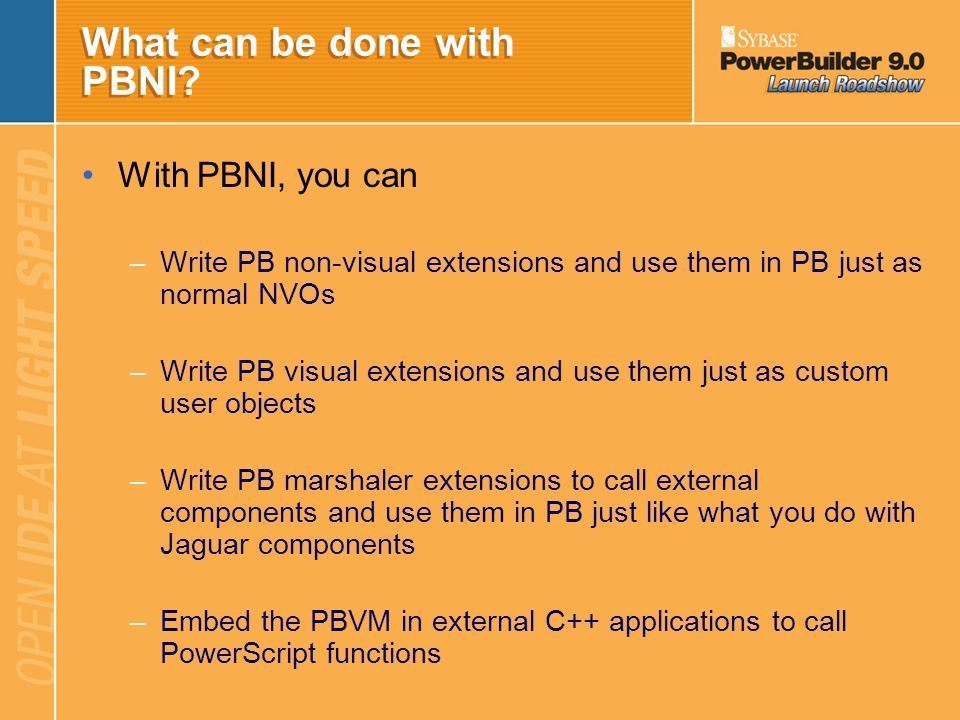 What can be done with PBNI