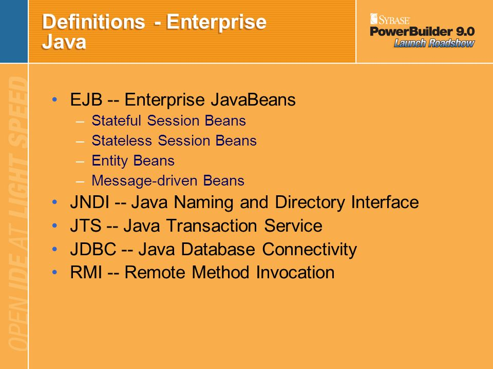 Definitions - Enterprise Java