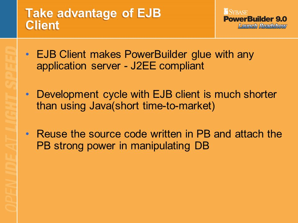 Take advantage of EJB Client