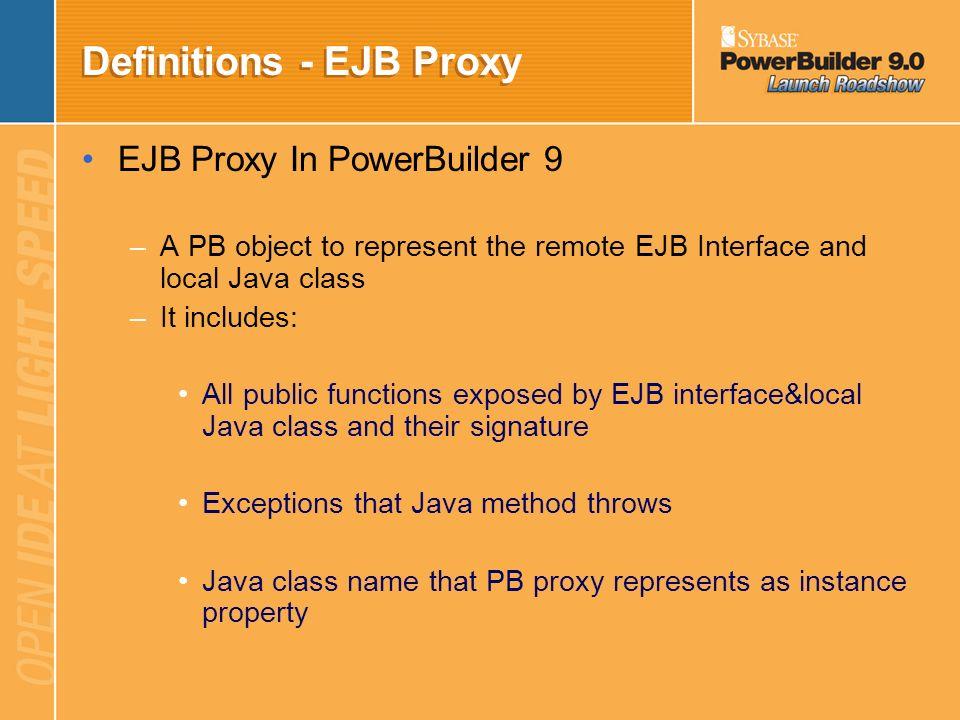 Definitions - EJB Proxy
