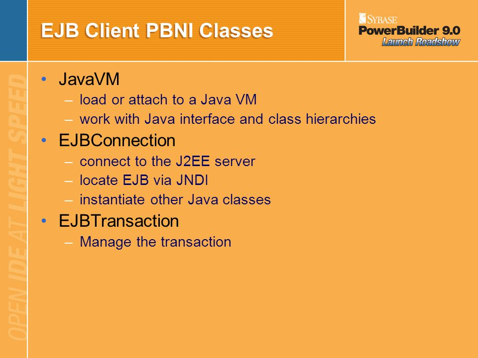 EJB Client PBNI Classes