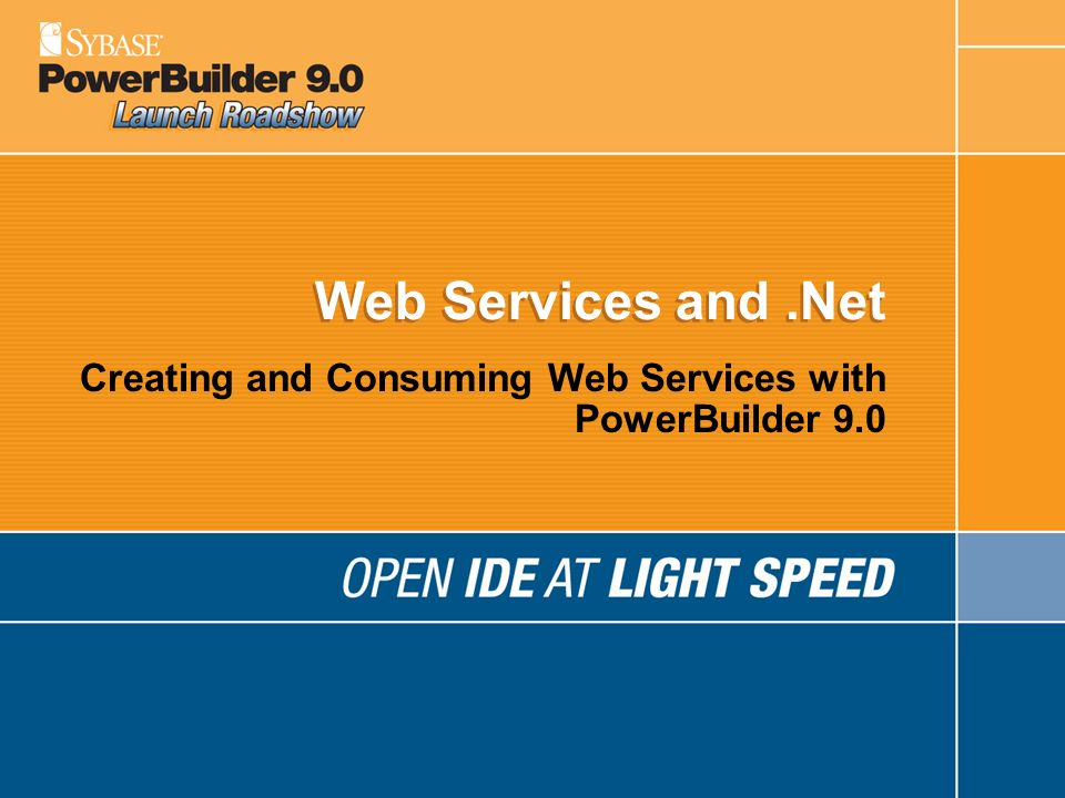 Creating and Consuming Web Services with PowerBuilder 9.0