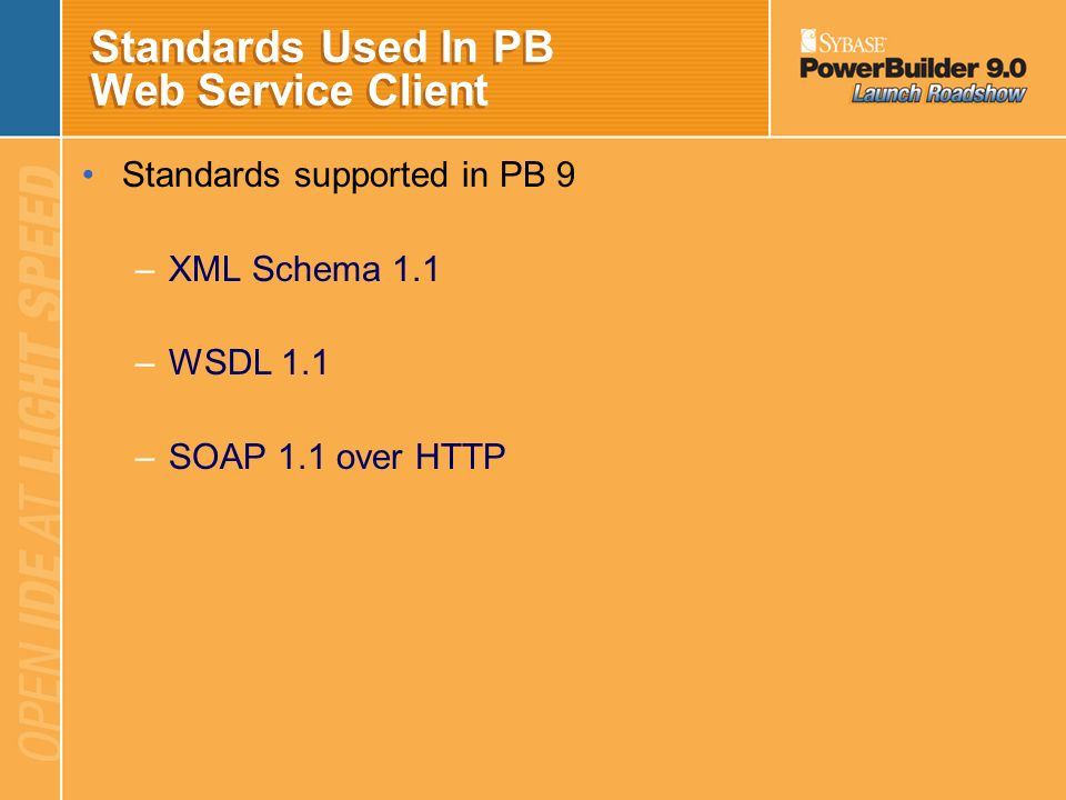 Standards Used In PB Web Service Client