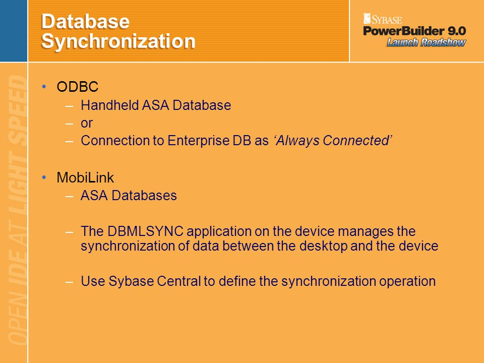Database Synchronization
