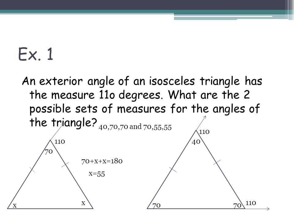 Warmup Which Is The Correct Definition Of Isosceles A A Triangle With At Least 2 Congruent