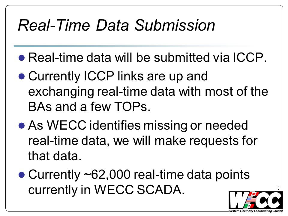 Real-Time Data Submission