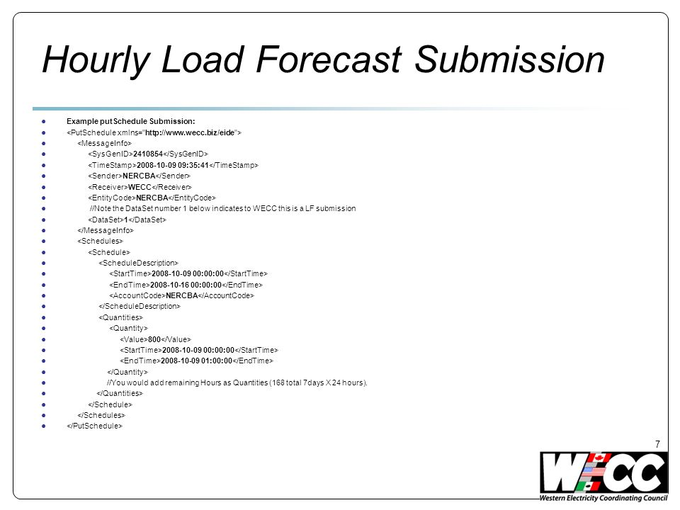 Hourly Load Forecast Submission