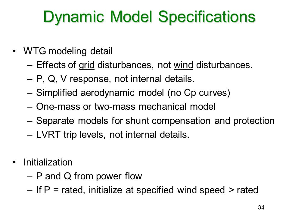 Dynamic Model Specifications