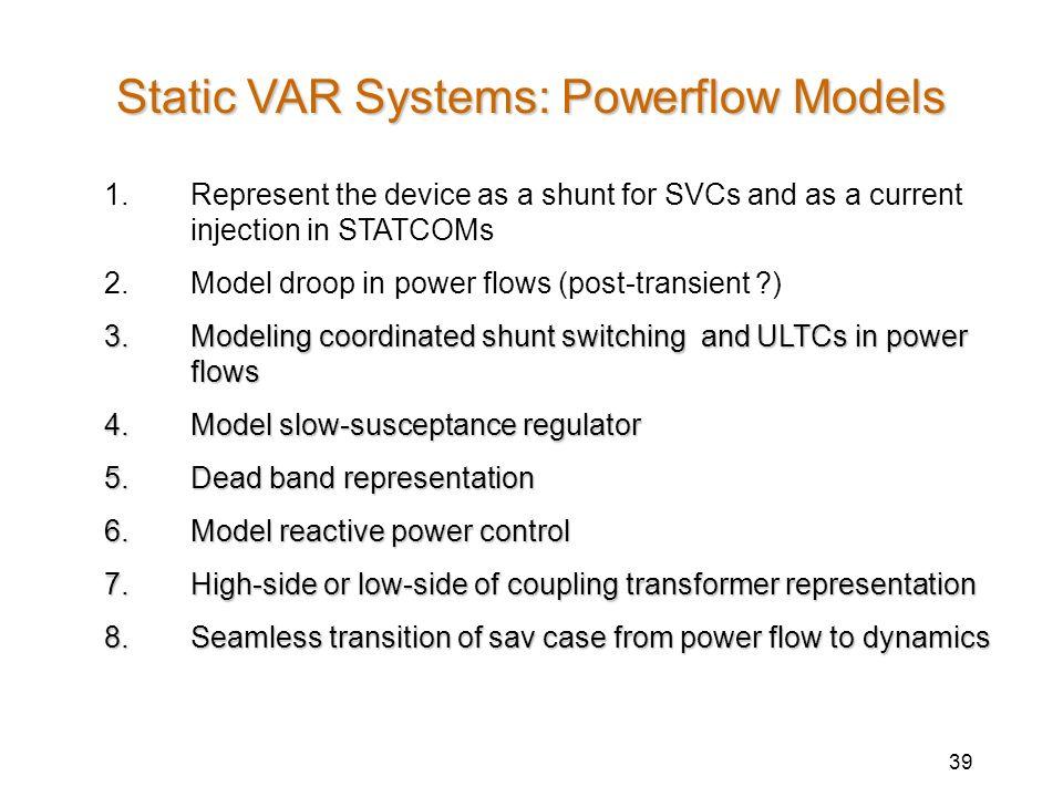 Static VAR Systems: Powerflow Models