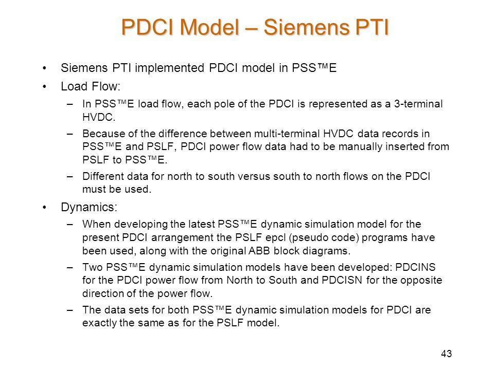 PDCI Model – Siemens PTI