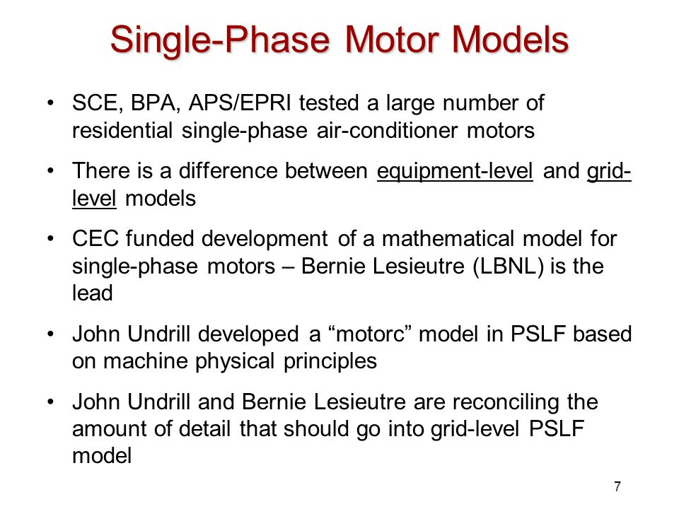 Single-Phase Motor Models