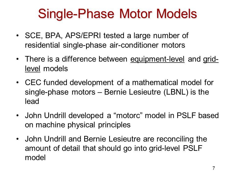 Single-Phase Motor Models