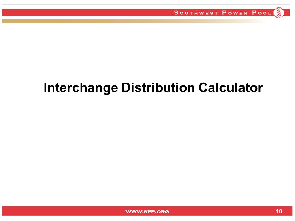 Interchange Distribution Calculator