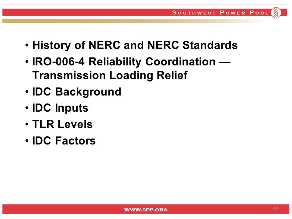 History of NERC and NERC Standards