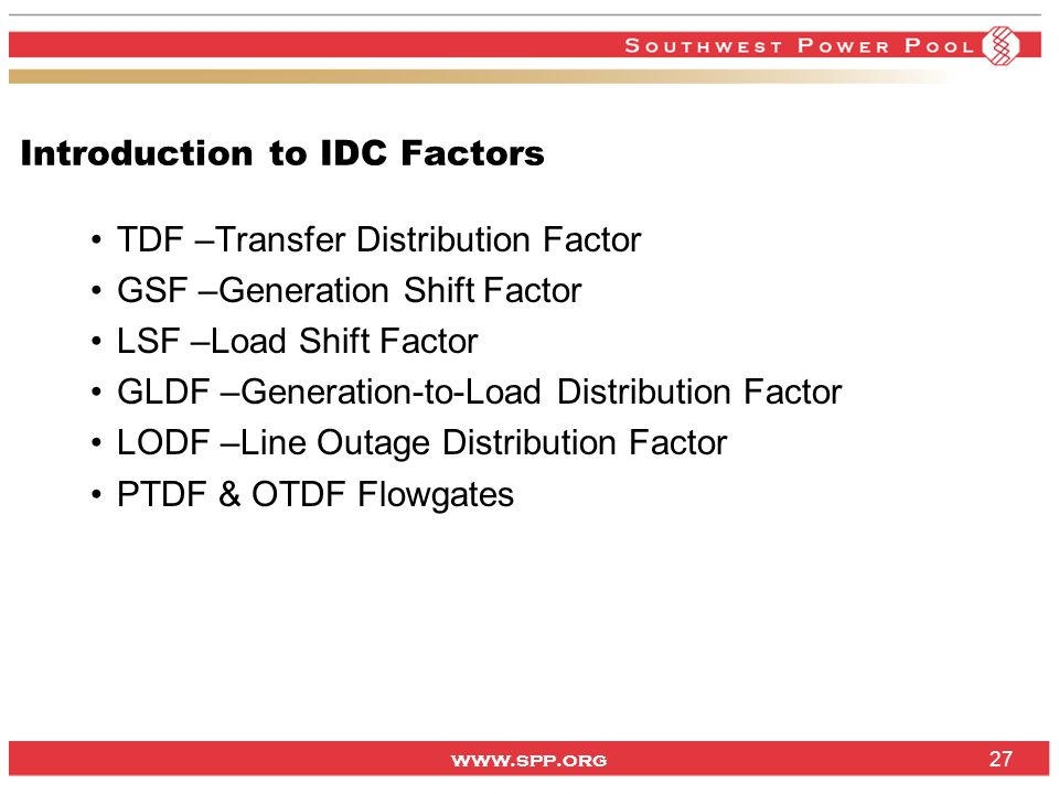 Introduction to IDC Factors