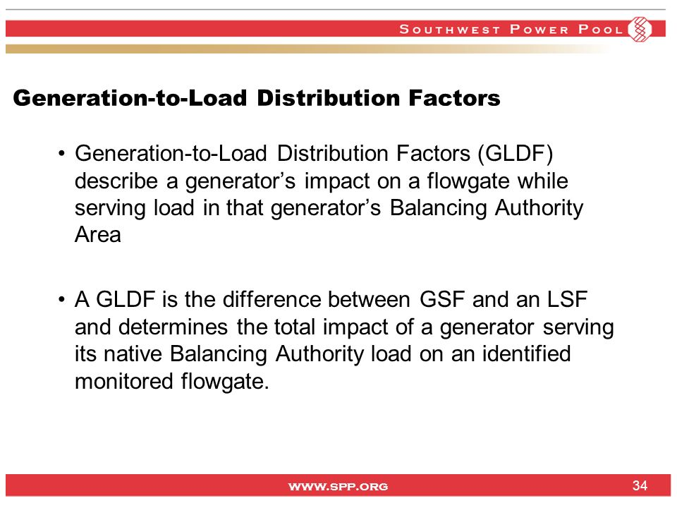 Generation-to-Load Distribution Factors