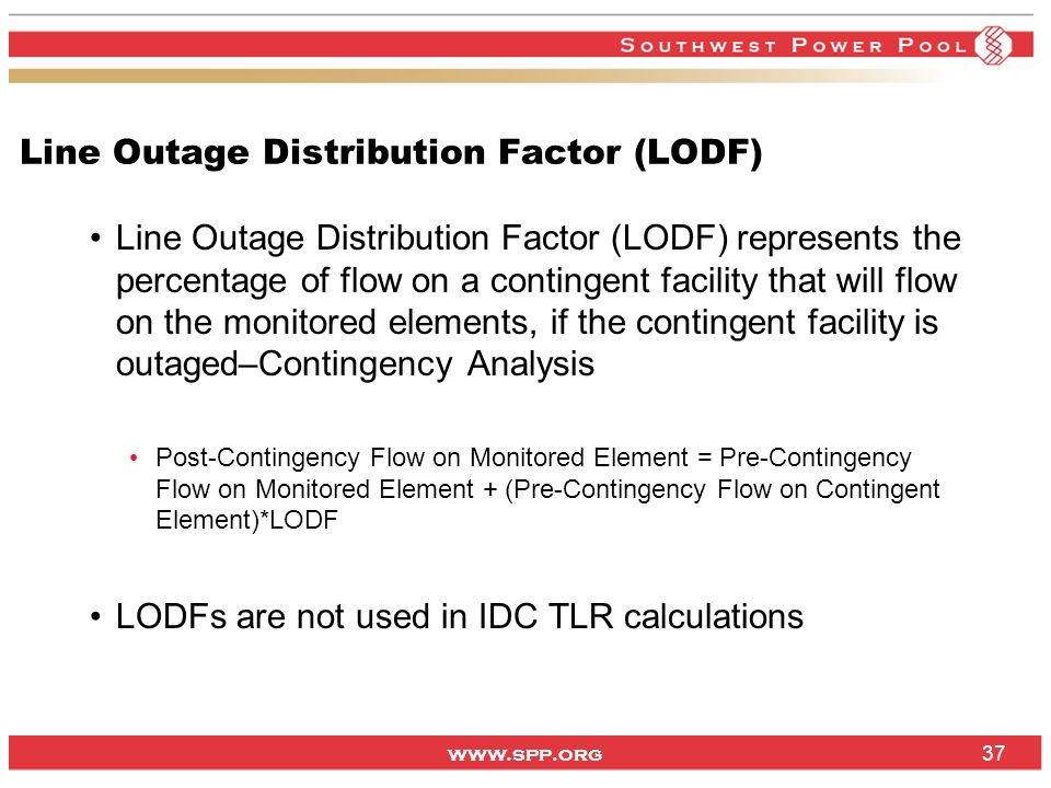 Line Outage Distribution Factor (LODF)