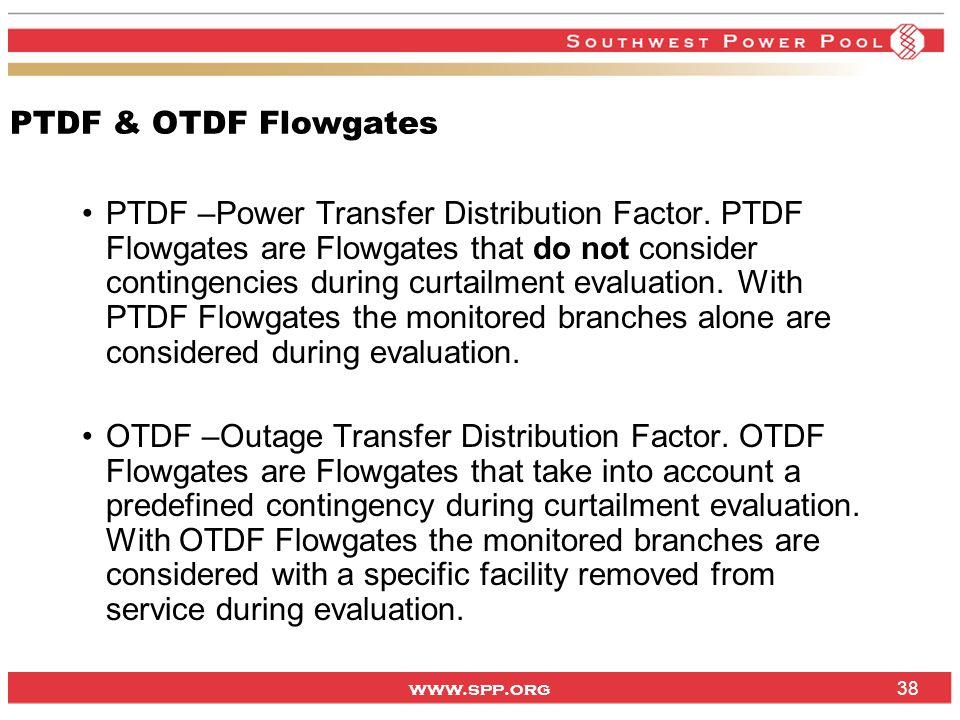 PTDF & OTDF Flowgates