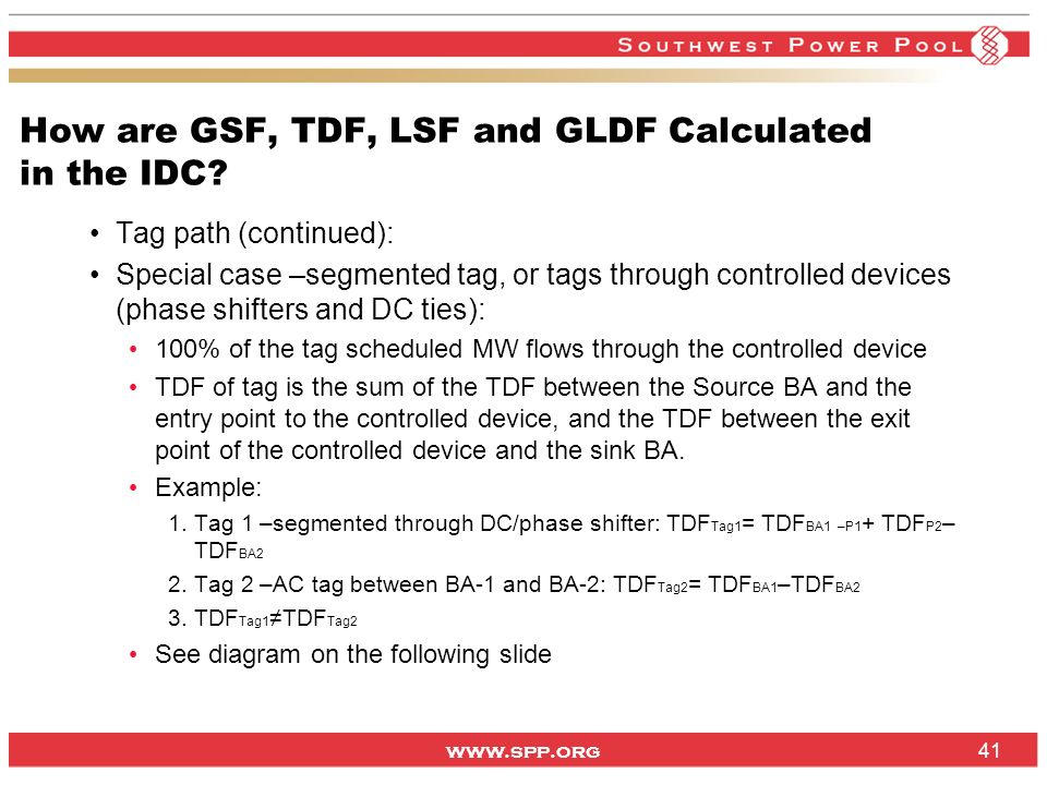 How are GSF, TDF, LSF and GLDF Calculated in the IDC