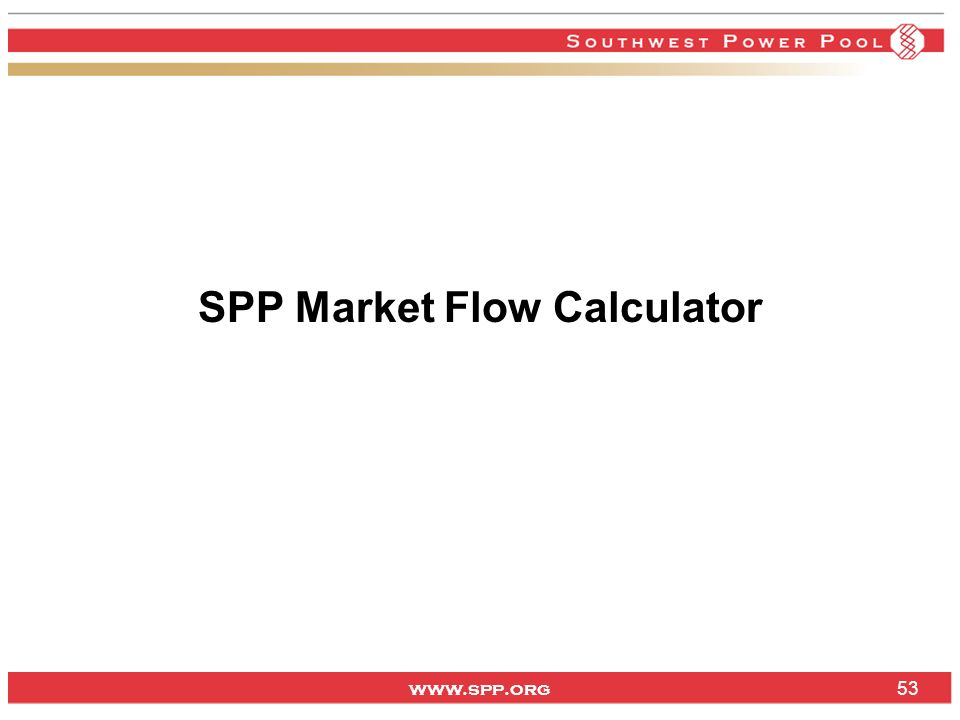 SPP Market Flow Calculator
