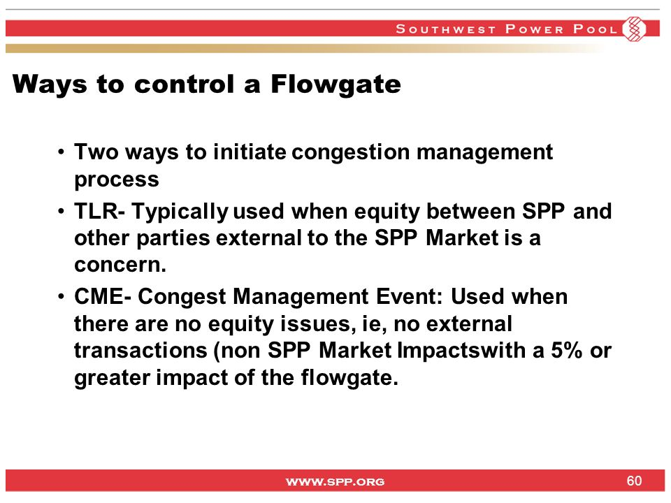 Ways to control a Flowgate
