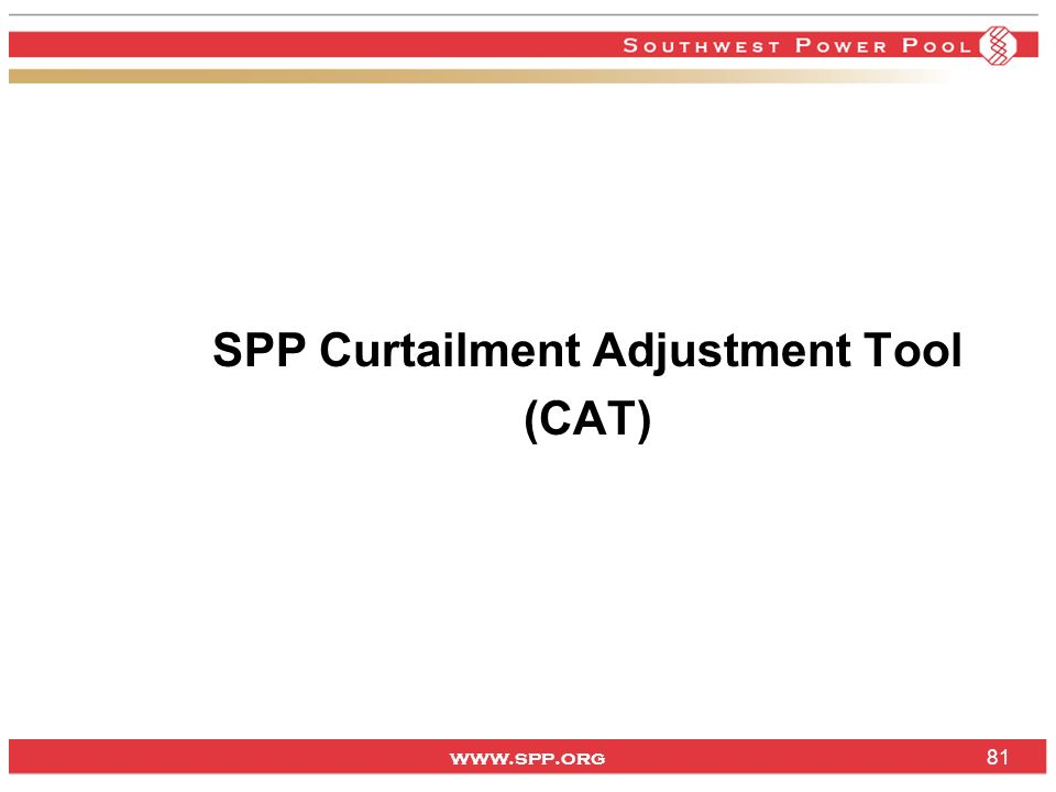 SPP Curtailment Adjustment Tool