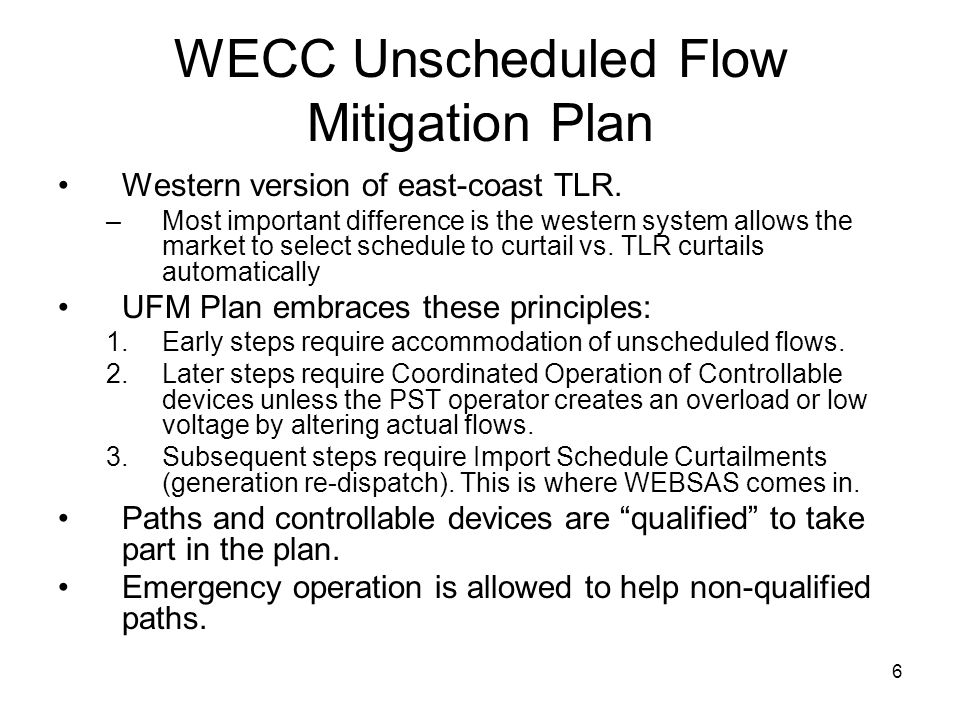 WECC Unscheduled Flow Mitigation Plan