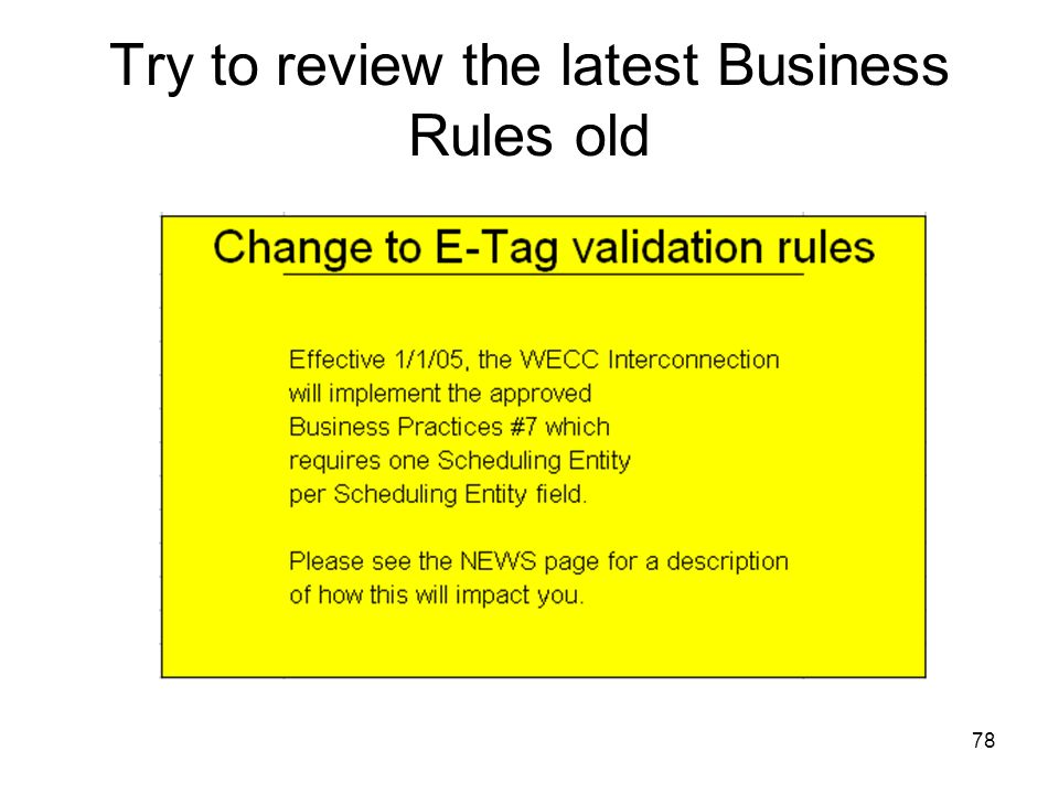 Try to review the latest Business Rules old