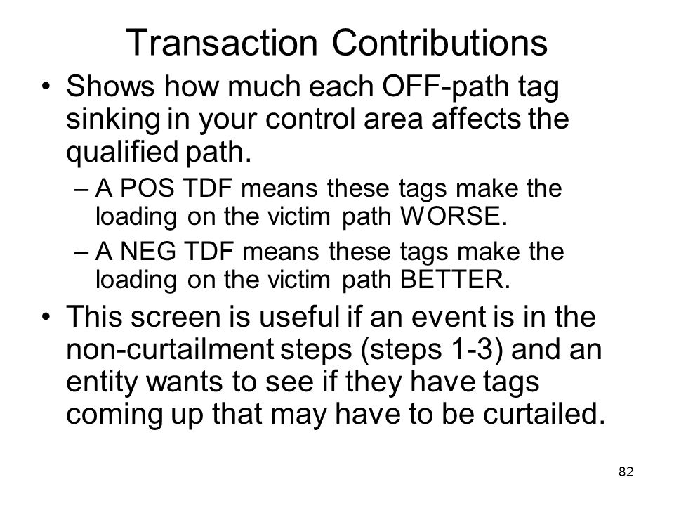 Transaction Contributions