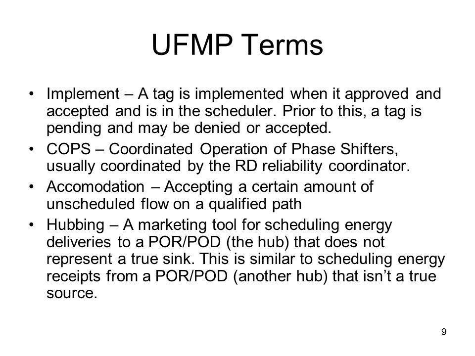 UFMP Terms