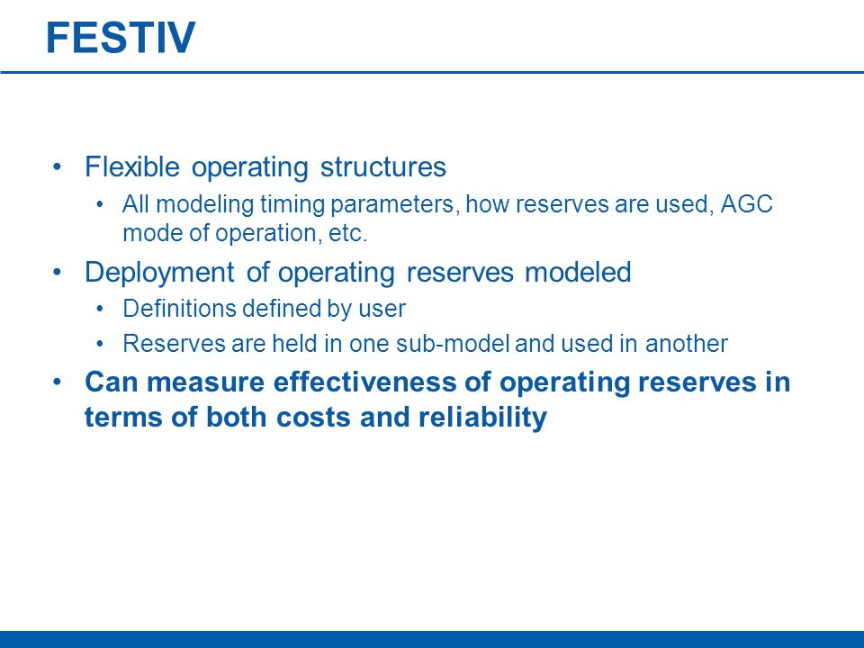 FESTIV Flexible operating structures