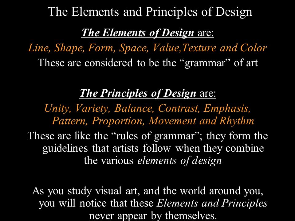 Elements And Principles Of Design Space : Art elements and principles ppt video online download