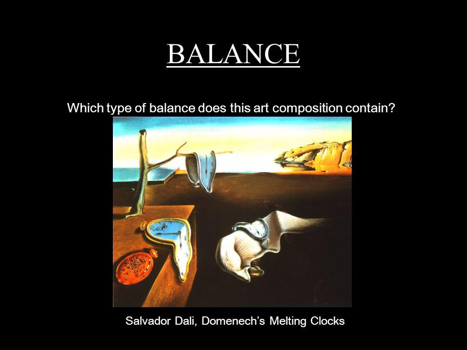 Salvador Dali Melting Clocks ART ELEMENTS and ART P...